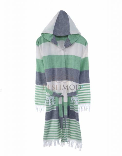Wholesale Banded Peshtemal Bathrobe from Manufacturer